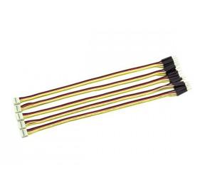Lot de 5 câbles 20 cm Grove - 4 contacts mâles