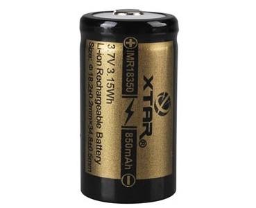 Accu Li-Ion 18350 3,7 Vcc/850 mAh