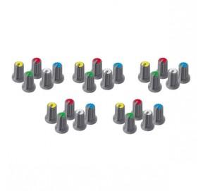 Assortiment de 25 boutons 5 couleurs