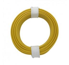 Fil de câblage jaune 10m x 0,14mm² FC14J
