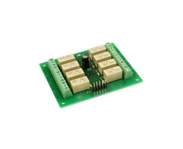 Carte 8 relais I2C/série RLY08