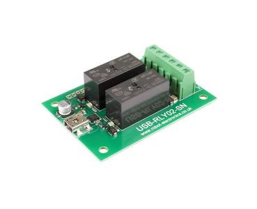Carte USB 2 relais USB-RLY02-SN