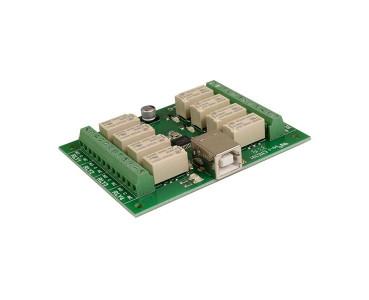 Carte USB 8 relais USB-RLY08C