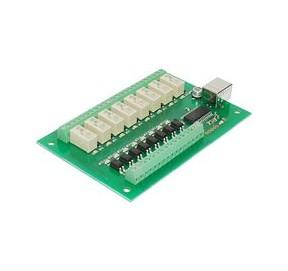 Carte USB à 8 relais et 8 entrées USB-RLY88