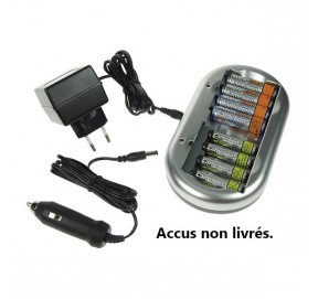 Chargeur pour accus R3/R6 NiCd et NiMh