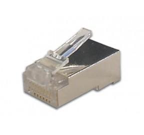 Connecteur modular 8 pôles - 8 contacts blindé (pour câble rond rigide)