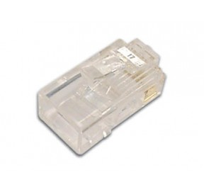 Connecteur modular 8 pôles - 8 contacts (pour câble rond rigide)