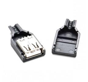Connecteur USB A femelle à souder