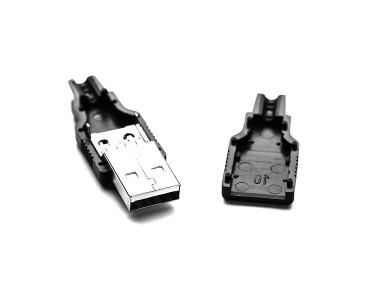 Connecteur USB A mâle à souder