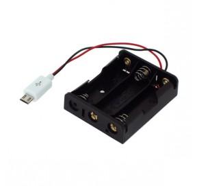 Coupleur 3 piles R6 micro-USB EM3MU