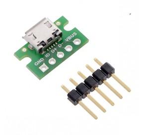 Embase à connecteur micro-USB B 2586