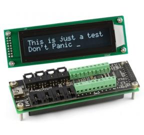 Interface 8 E/8 S logiques + 8 E analogiques + LCD 1203_2