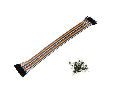Nappe de 20 câbles 25 cm F/F BBJ18