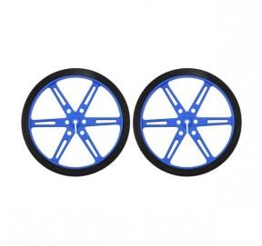Paire de roues bleues Pololu 1433