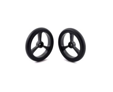 Paire de roues noires 40 x 7 mm 4905