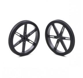 Paire de roues noires Pololu 1430