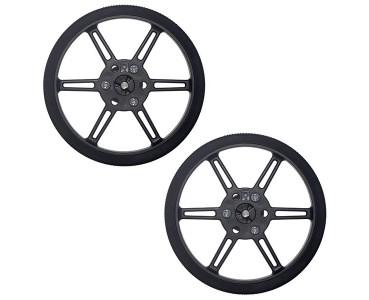 Paire de roues noires Pololu 3690