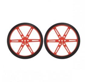 Paire de roues rouges Pololu 1431