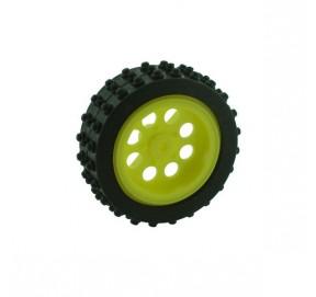Roue à pneu souple 50x15mm perçage 3mm