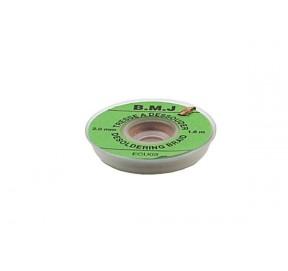 Tresse non étamée 2.5mm x 1.6m ECU04