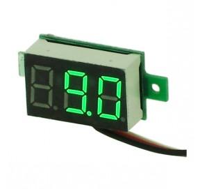 Voltmètre miniature à leds vertes