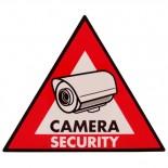 5 autocollants caméra de sécurité STCS