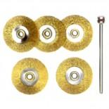 5 brosses circulaires Ø22 mm en laiton 28962