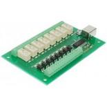 Carte USB � 8 relais-8 entr�es USB-RLY88