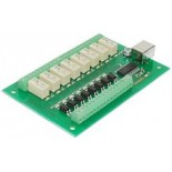 Carte USB à 8 relais-8 entrées USB-RLY88