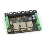 Interface 8 E/8 S logiques + 8 E analogiques + hub 1019