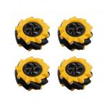 Kit de 4 roues omnidirectionnelles FIT0662-1