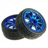 Paire de roues bleues TAM6427B