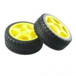 Paire de roues jaunes TAM6626J