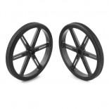 Paire de roues noires 90 x 10 mm 4935