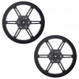 Paire de roues noires Pololu 80 x 10 mm 3690