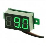 Voltmètre mini à leds vertes 0 à 100 Vcc