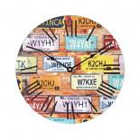 Horloge murale thème voyage WD30LP