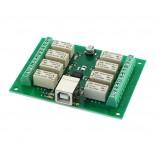 Carte USB � 8 relais USB-RLY08